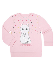 GAC009113 Джемпер для девочек, светло-розовый