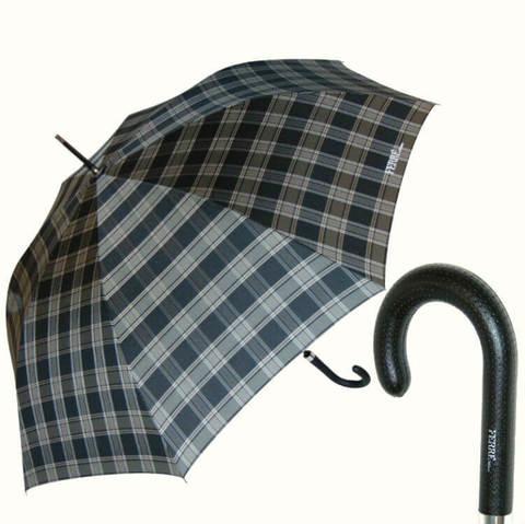 Большой зонт в клетку, шотландка