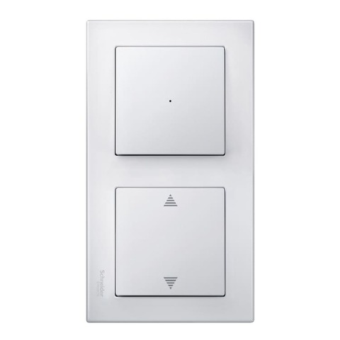Рамка на 2 поста. Цвет Полярно-белый, блестящий. Merten M-smart. MTN478219