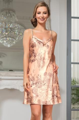 Сорочка женская шелковая  Mia-Amore LETUAL Летуаль  3431 роза