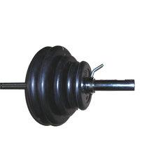 Штанга тяжелоатлетическая с обрезиненными дисками 100кг.