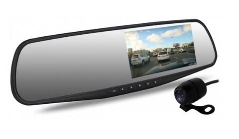 Автомобильный видеорегистратор зеркало Dunobil Spiegel Duo