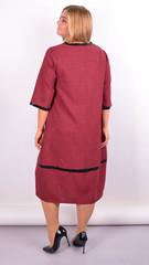 Таис. Платье для женщин плюс сайз. Бордо.