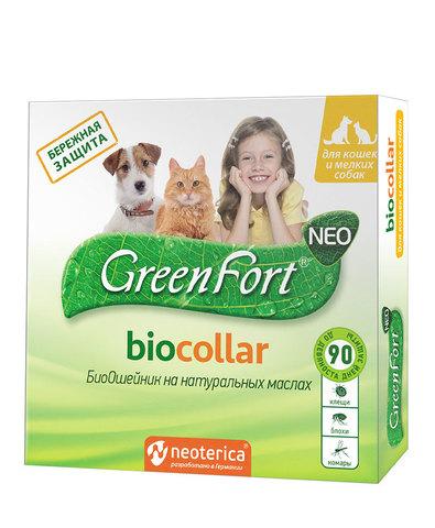 Green Fort neo БиоОшейник от блох и клещей для кошек и мелких собак 40см (1x30)