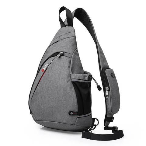 Рюкзак однолямочный КАКА 99001-usb серый