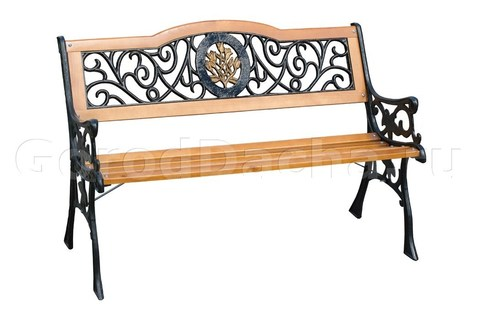 Скамейка чугунная садовая «Лилия»