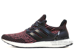 Кроссовки Мужские Adidas Ultra Boost Black Solar Red