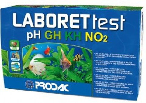 Prodac laboret 4 test pH, GH, KH, NO2