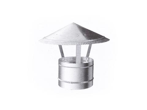 Зонтик крышный D 100 мм оцинкованная сталь