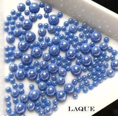 MIX жемчуг для дизайна - color BLUE COBALT (не теряют цвет)