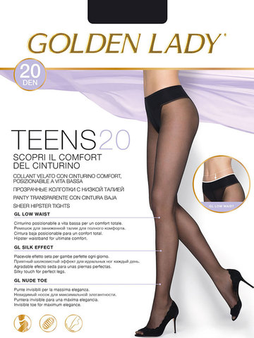 Колготки Teens 20 Vita Bassa Golden Lady