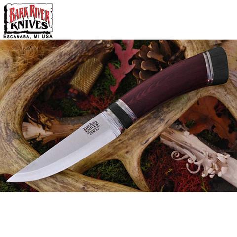 Нож Bark River Scandi модель Maroon Linen Micarta Black Paper Sp