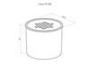 Горелка для биокамина LUX FIRE D85 схема чертеж