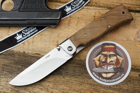 Складной нож НСК Стерх Полированный Орех Стальные Притины