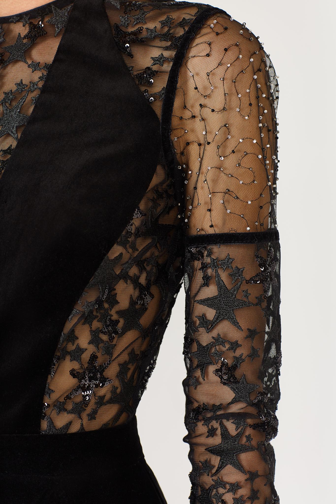 Коктейльное бархатное платье