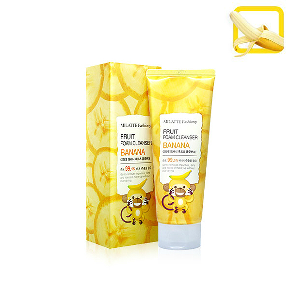 Пенка для умывания Milatte Fruit Foam Cleanser Banana