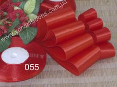 Лента атласная шириной 6мм красная - 055