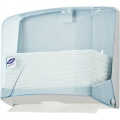 Диспенсер для полотенец лист. Luscan Professional слож. Z синий прозрачный