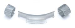 Фиксатор поворота Rehau Rautitan 32 мм. 45° отвод направляющий с кольцами (арт. 11389211002)