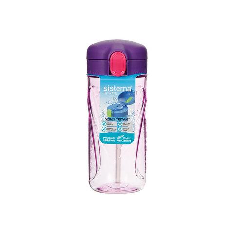 Бутылка для воды из тритана с трубочкой 520 мл, артикул 620, производитель - Sistema