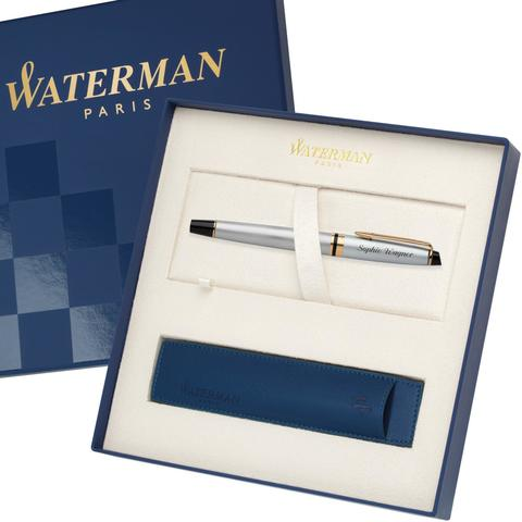 Ручка-роллер Waterman Expert 3, цвет: Stainless Steel GT, стержень: Fblk123