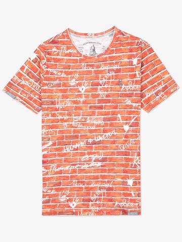 Мужская футболка «Великоросс» кирпичного цвета