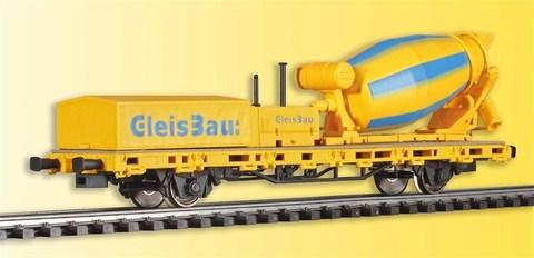 Viessmann 26254 Платформа с крутящейся бетономешалкой, HO