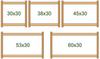 Пяльцы-рамка регулируемые 30х30 см. Дубко
