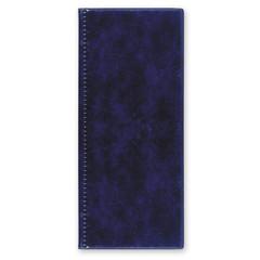 Визитница настольная на 96 визиток 2350И-201, ПВХ, синий, Россия