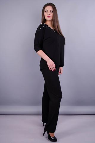 Фрида. Женский костюм больших размеров. Черный.