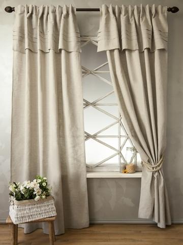 Комплект штор Эллада  натуральный лен