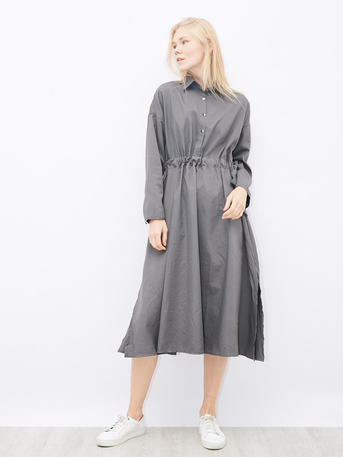 Платье-рубашка на кулиске