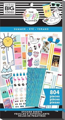 Блокнот со стикерами для ежедневника -Happy Planner Sticker Value Pack- Summer, 804 шт