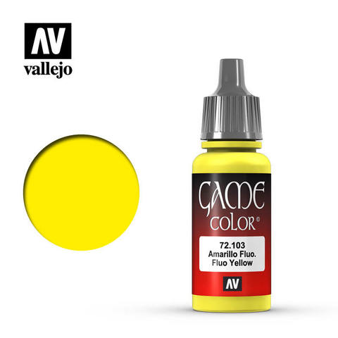 Game Color Fluo Yellow 17 ml.