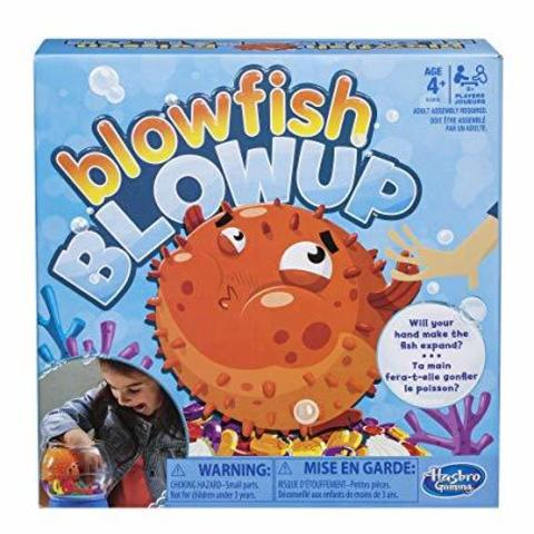 Hasbro Gaming Blowfish Blowup Game for Kids Ages