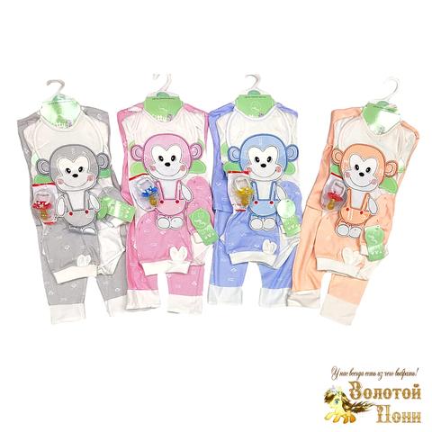Комплект новорожденному 7 предметов (0-3) 200313-Р8843