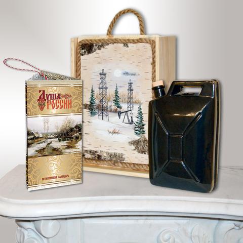 Подарочный набор нефтянику (штоф-канистра)