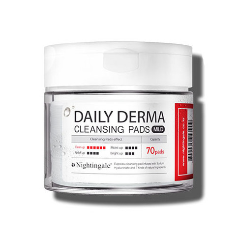 Очищающие салфетки Nightingale Daily Derma Cleansing Pads Mild 70ea 70 шт.