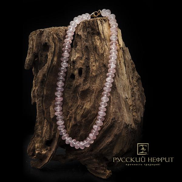 Колье из редких камней Бусы из розового кварца. busy13site.jpg
