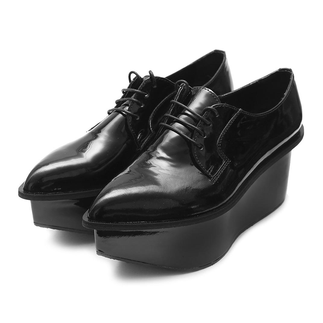Ботинки «STRELA PLATFORM LAK BL»