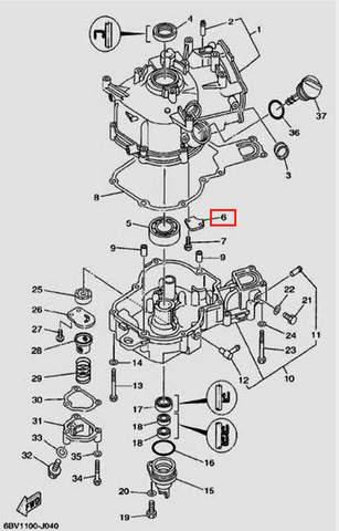 Крышка сапуна для лодочного мотора F5 Sea-PRO(4-6)