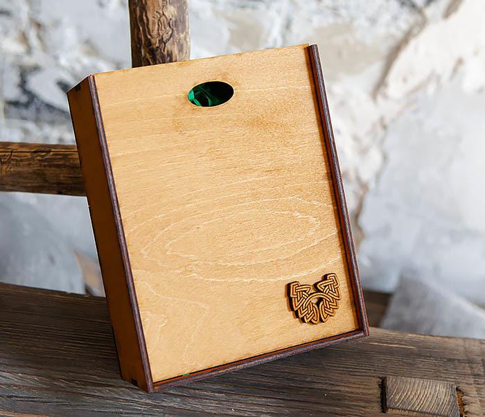 BOX231-2 Подарочная коробка формата А6 из дерева (19*15*6 см)