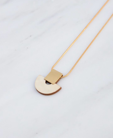 Подвеска Marina Necklace in Mother of Pearl