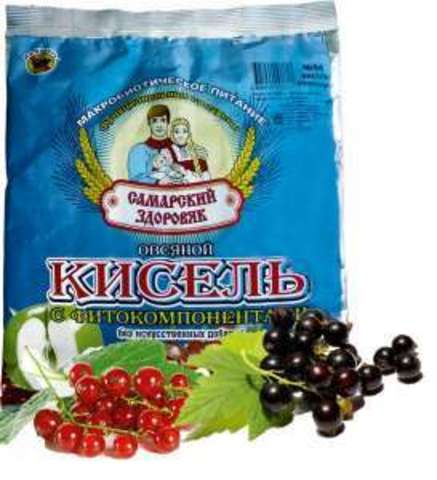Кисель Самарский Здоровяк овсяный №89 смородиновый, 300 гр.