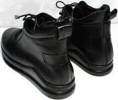 Черные высокие кеды ботинки женские кожаные Evromoda 375-1019 SA Black