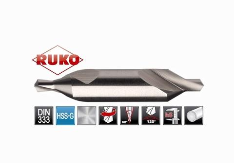 Сверло центровочное Ruko DIN333 HSS №А 0,8х20,0мм 217008