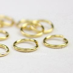 Колечко одинарное TierraCast 7,3х0,9 мм (цвет-золото), 10 штук