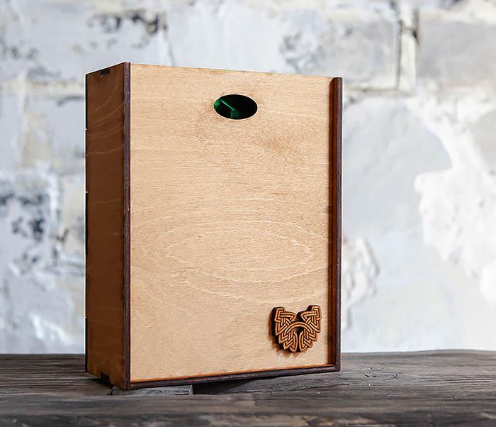 BOX231-2 Подарочная коробка формата А6 из дерева (19*15*6 см) фото 03