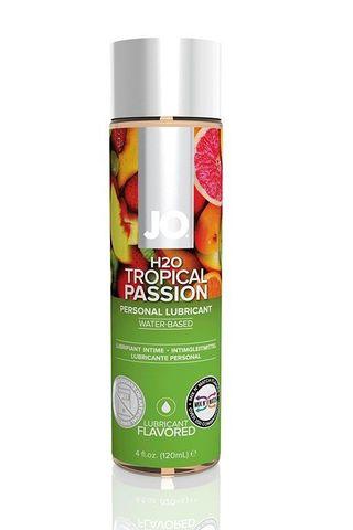 Лубрикант на водной основе с ароматом тропических фруктов JO Flavored Tropical Passion - 120 мл.