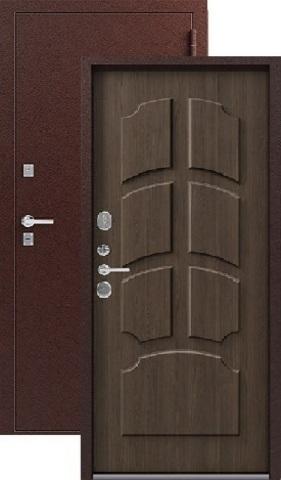 Дверь входная Легион T-2, 2 замка, 1,8 мм  металл, (медь+миндаль)